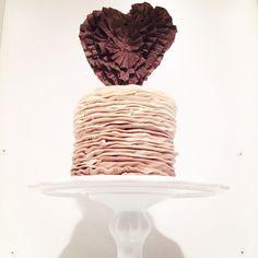 Ruffled Heart Cake by a Bakeshop!