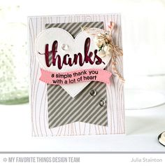 Grateful for You Stamp Set, Whimsical Woodgrain Background, Thanks & Hello Die-namics, Stitched Heart STAX Die-namics, Blueprints 13 Die-namics, Blueprints 25 Die-namics - Julia Stainton  #mftstamps