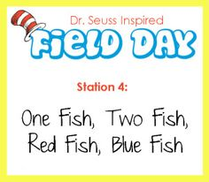 Dr. Seuss Field Day- Station 4