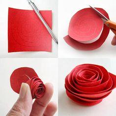 Eco Deco diy: Rosas rojas