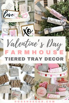 Calling all lovers of Valentine's Day and Tiered Trays. No matter if traditional red and white makes your heart race or soft pinks and pastels, we have something you're sure to love! #valentinesdaydecor #valentinestieredtraydecor #valentinesday Easy Valentine Crafts, Valentines Day Decorations, Halloween Decorations, Valentine Ideas, Pink Cupcakes, Valentine's Day Diy, Tray Decor, Farmhouse Design, Farmhouse Style