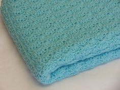 Crochet Baby Blanket  Turquoise  Shell by MagnoliaBabyCrochet