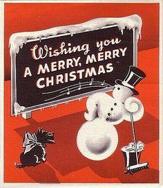 Adorable vintage snowman sign :)