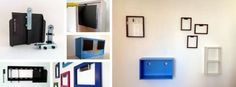 Magnektik makes large magnetic panels that are strong enough to hang anything, including shelves and TVs.