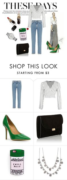 """""""My green spring look !"""" by ratsame on Polyvore featuring interior, interiors, interior design, home, home decor, interior decorating, Acne Studios, Salvatore Ferragamo, Mansur Gavriel and Givenchy"""