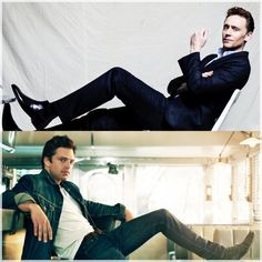 Hiddles & Sebastian Stan Y'all could murder me in the middle of the night and I wouldn't care I'd be into it probably