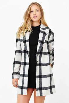 Finders Keepers Plaid Vacate Coat