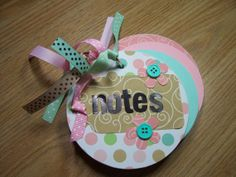 Pink and Green Chipboard Notebook by HampshireRose on Etsy, $10.00