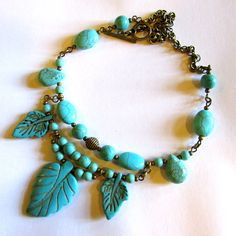 Park Turquoise Necklace free shipping by ClaraBijous on Etsy