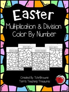 Easter+Multiplication+and+Division+Color+by+Number+from+Terri'sTeachingTreasure+on+TeachersNotebook.com+-++(4+pages)++-+A+fun,+engaging+way+for+students+to+practice+their+multiplication+and+division+facts+to+100.+Included+are+4+Easter+themed+color+by+number+pages.+Two+are+multiplication+focused+and+two+are+division.