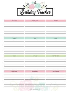 Get organized in the new year with this 2019 Yearly Calendar free printable! It includes a birthday tracker, to-do list, monthly calendars and more. To Do Lists Printable, Monthly Planner Printable, Printable Calendar Template, Templates Printable Free, Free Printables, Diy Calendar, Monthly Calendars, Blank Calendar, Calendar 2020