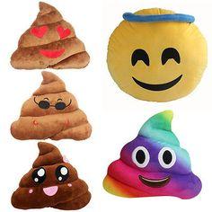 Amusant Emoji Bébés Emoticône Coussin Cœur Œil Caca Forme Oreiller Poupée Jouet