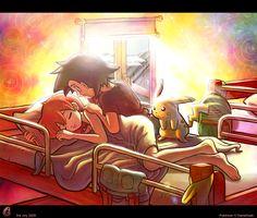 Explore the Pokeshipping collection - the favourite images chosen by on DeviantArt. Ash Pokemon, Pokemon Sexy, Pokemon Ash And Misty, Pokemon Ash And Serena, Pokemon People, Pokemon Ships, Pokemon Comics, Pokemon Fan, Pikachu