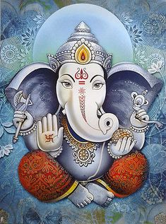 Chandra is described as young and beautiful, two-armed and carrying a club Ganesha Pictures, Ganesh Images, Lord Ganesha Paintings, Ganesha Art, Indian Gods, Indian Art, Shree Ganesh, Jai Ganesh, Shiva
