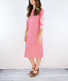 Cute striped midi for spring