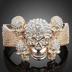 jewelry, bracelet, skull, skulls, bling