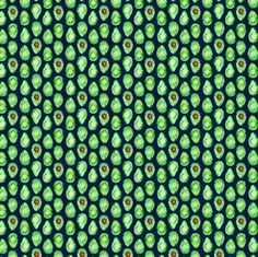 (micro print) avocado on navy fabric by littlearrowdesign on Spoonflower - custom fabric