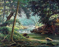 EDGAR WALTER - Auto retrato   Óleo sobre tela      Um importante capítulo da história da pintura de paisagens no Brasil passa, segurame...