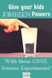 Give your kids Disney Frozen powers! Channel Queen Elsa's powers with these easy Frozen crafts turned science experiments! A great science lesson and so much fun!