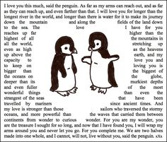 When penguins mate, they mate for life. I want a penguin love. Penguin Quotes, Penguin Art, Penguin Nursery, Love You So Much, Love Of My Life, Penguin Pictures, Cute Penguins, Hopeless Romantic, Make Me Happy