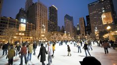 Soak up winter at the ice skating rink in Chicago's Millennium Park.