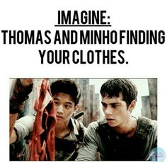 omg I never thought of that 😂😂 Maze Runner Thomas, Maze Runner Cast, Maze Runner Movie, Dylan O Brien Imagines, Maze Runner Characters, Divergent Hunger Games, Percy Jackson Fandom, Thomas Brodie Sangster, Dylan O'brien