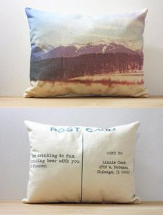 Custom Postcard Photo Pillows by Finch&Cotter | Hatch.co