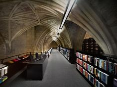 Dutch bookstore chain Selexyz can be found right inside of a 13th century Dominican church in Maastricht, Holland.