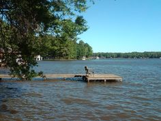 the old dock at the lakehouse