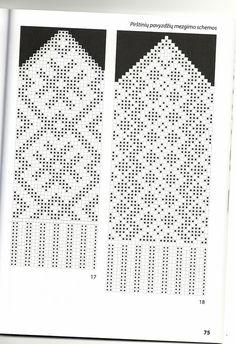 Knitted Mittens Pattern, Knit Mittens, Knitting Socks, Hand Knitting, Graph Crochet, Filet Crochet, Knitting Charts, Knitting Patterns, Diagram Chart
