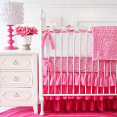 Pink Baby Boutique - Girly Pink Leopard Baby Crib Bedding, $134.00 (http://www.pinkbabyboutique.com/girly-pink-leopard-baby-crib-bedding/)