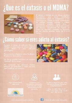 Es importante conocer más de esta droga, el éxtasis.   Te compartimos una infografía dedicada a este tema.