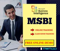 Attend Interactive MSBI Free Online Demo On Wednesday 16th Of May 2018 @ 8 AM With Real Time Experienced Domain Faculty.  Address: #502, Sree Swathi Anukar Complex,  Near Aditya Trade Center,  Ameerpet, Hyderabad - 500016  Reach Analytics Benchmark Trainings at WhatsApp    : 77 99 77 12 13 Call              : 77 99 77 12 14 / 040 – 48 51 71 91 Email           : info@abtrainings.com