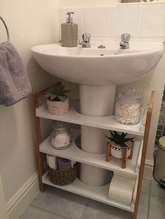 Space Saving Bathroom, Small Bathroom Storage, Bathroom Organisation, Bathroom Design Small, Simple Bathroom, Home Organization, Organizing Ideas, Furniture For Small Spaces, Home Decor Furniture