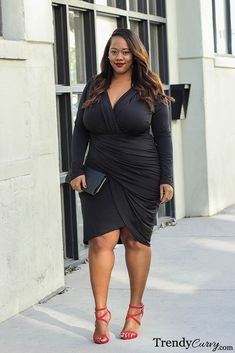 Kristine from Trendy Curvy is rocking one of our LBDs. Click the Link to Shop - http://goo.gl/xV0RsX
