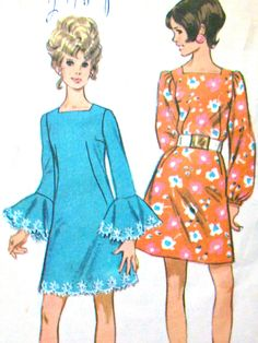 Mod 60s dress/ like the sleeves