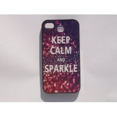 Black Iphone 4/4s Case --- Keep Calm and Sparkle -- Iphone 4, Iphone case, Iphone, iphone 4s, Case, iPhone Case