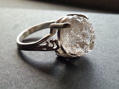 Raw Diamond Ring // Rough Diamond Ring // Natural by Avello, $108.00