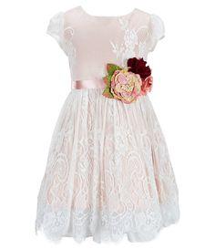 5f8b763537e6 Chantilly Place Big Girls 7-16 Lace Floral-Trim Dress | Dillards