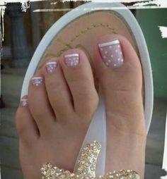 17 Ideas french pedicure designs toenails pretty toes for 2019 Nail Designs 2015, Toenail Art Designs, French Tip Nail Designs, Simple Nail Art Designs, Short Nail Designs, Toe Nail Designs, Nails Design, Pedicure Nail Art, Toe Nail Art