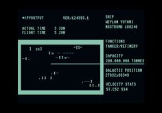 Alien (1979)  Status screen (approximation)