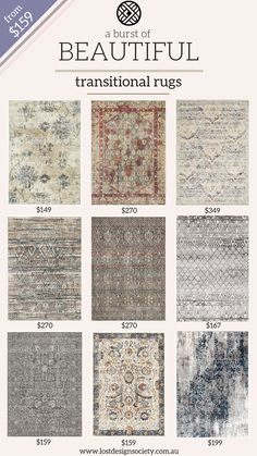 A transitional rug is a strikingly beautiful blend of traditional and modern styles that creates a harmonised look in nearly all interiors. Interior Paint Colors, Paint Colors For Home, Interior Design Living Room, Living Room Designs, Kitchen Interior, Diy Bedroom Decor, Living Room Decor, Home Decor, Decoraciones Ramadan