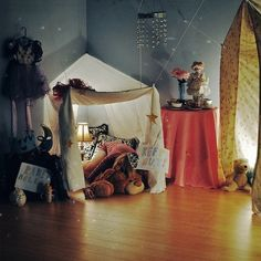 tents in the kids rooms