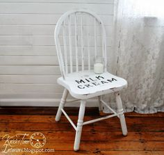 Milk and Cream Co. Chair - an easy upcycle for a chair that was ugly ~~~via Knick  of Time