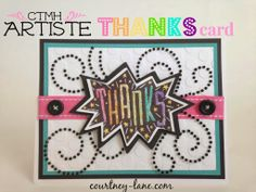 Artiste Colorful Thanks card