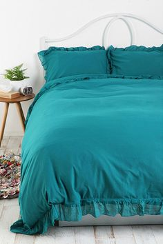Urban Outfitters bedcover #decoration #homedecor #home  #bedroom #teal