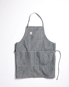 Pointer Brand 3 Pocket Shop Apron Hickory Stripe