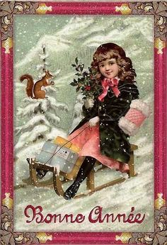 Christmas Post Сards ( Germany) — Sledding Angel  (545x800)
