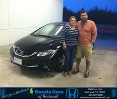 Congratulations to German Guerrero on your #Honda #Civic Hybrid purchase from Say Hinojosa Herrera at Honda Cars of Rockwall! #NewCar
