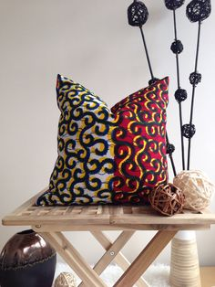 African Pillow Cover  African Home Decor  Couch by JuneThirty